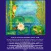 Frösche im Seerosenteich blau
