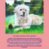 Terrier mit Tannenzapfen rosa